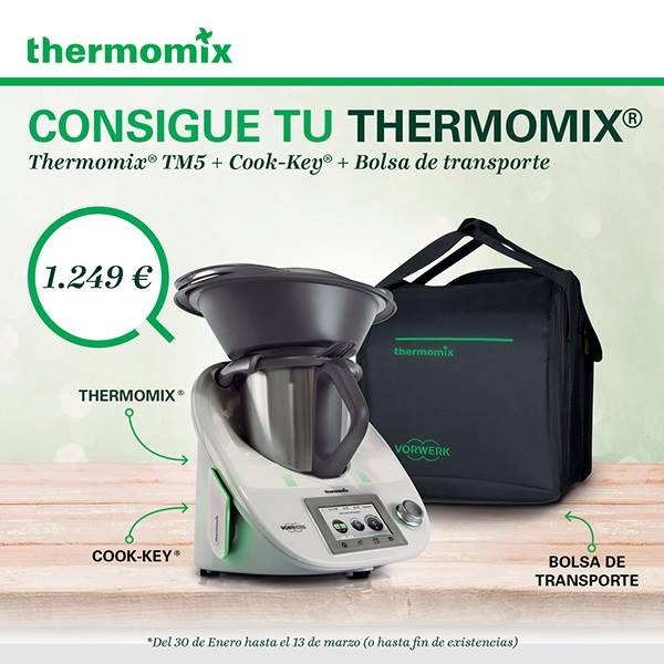 CONSIGUE TU Thermomix® TM5+COOK-KEY+ BOLSA TRANSPORTE