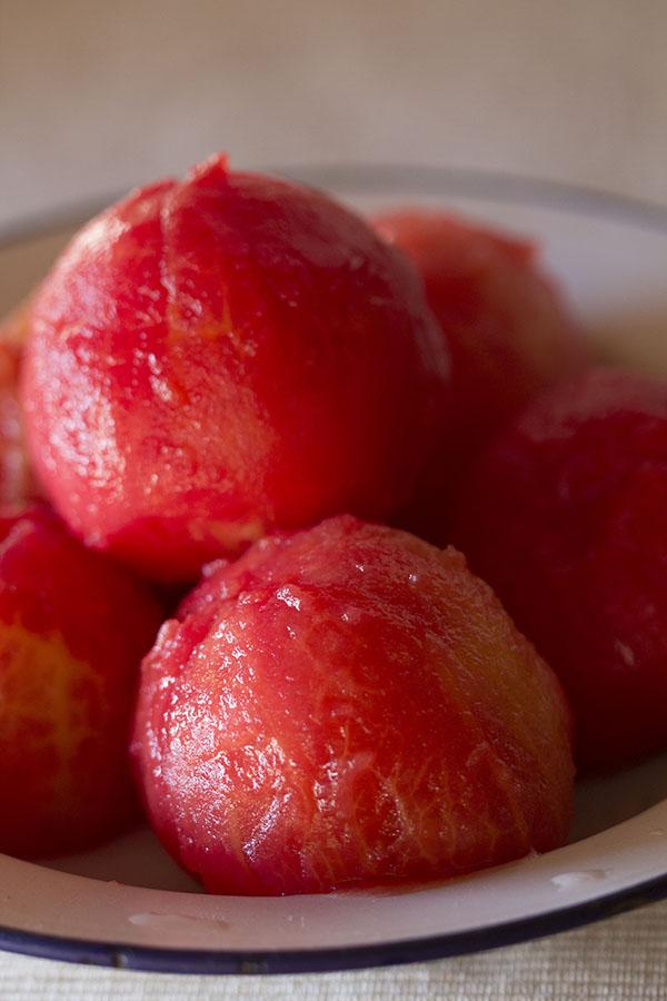escaldar tomates en el Varoma del Thermomix®