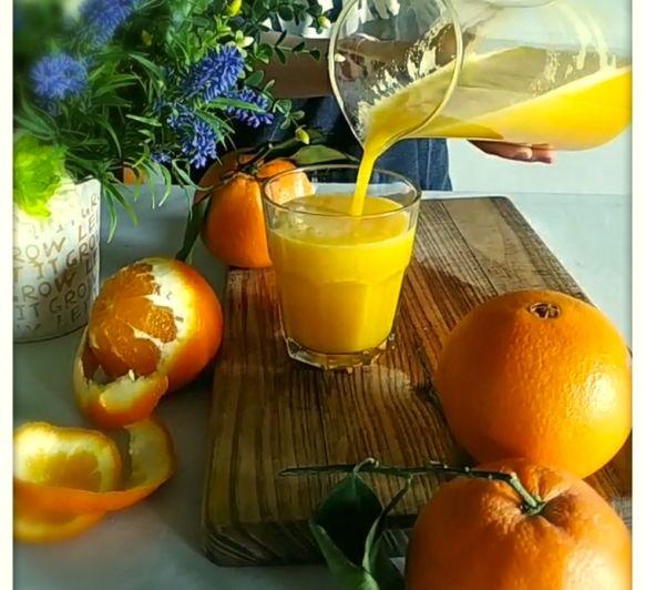 Zumo de naranja para dos