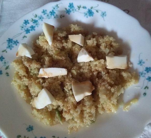 Quinoa con verduritas y queso fresco