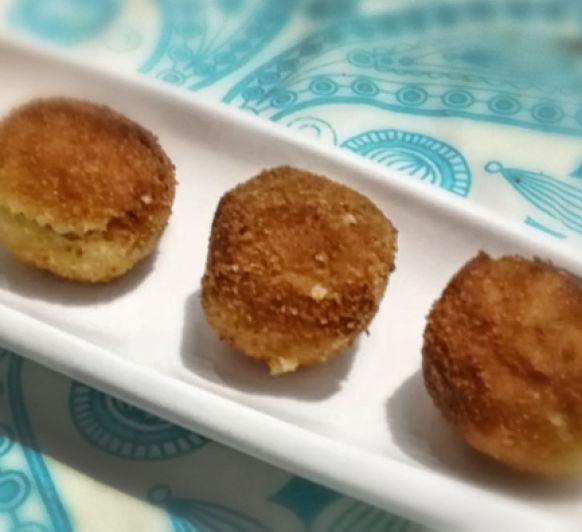 Croquetas de arroz con parmesano y jamón (con o sin gluten)
