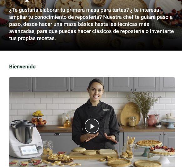 Clases de cocina en Cookidoo