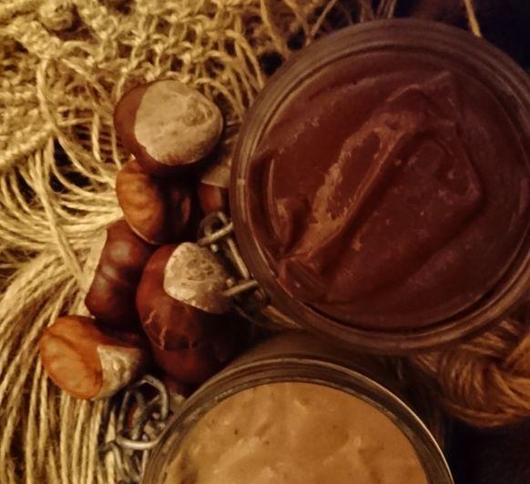 Crema dulce de castañas...para untar o rellenar. ¡Una receta... Dos versiones!