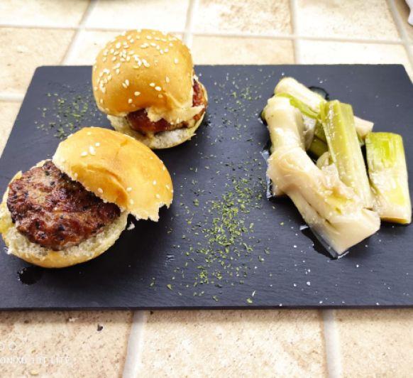 mini hamburguesas con brócoli y /o zanahoria