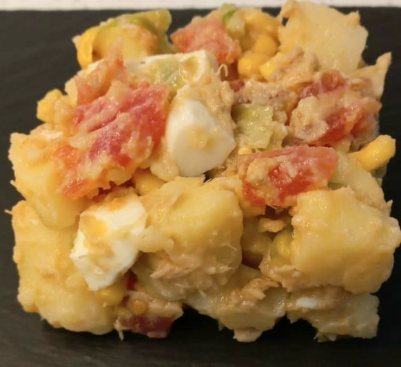 Ensalada de patata y maiz